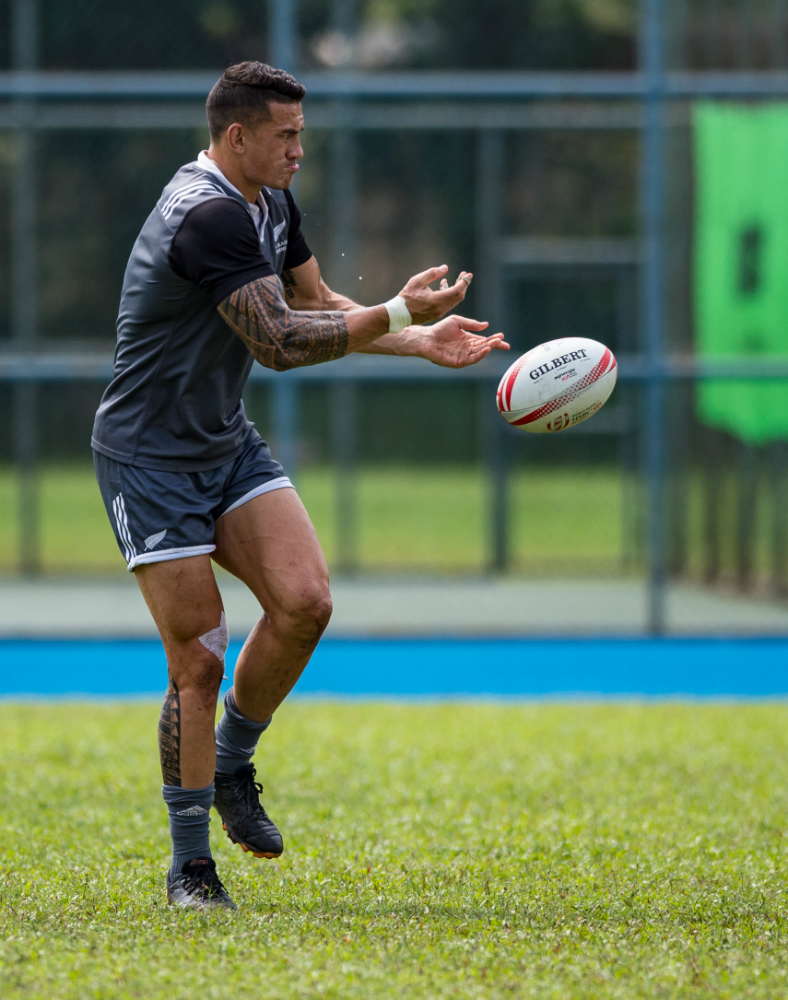 SBW focuses on his training. [Credit to Rugby Singapore]