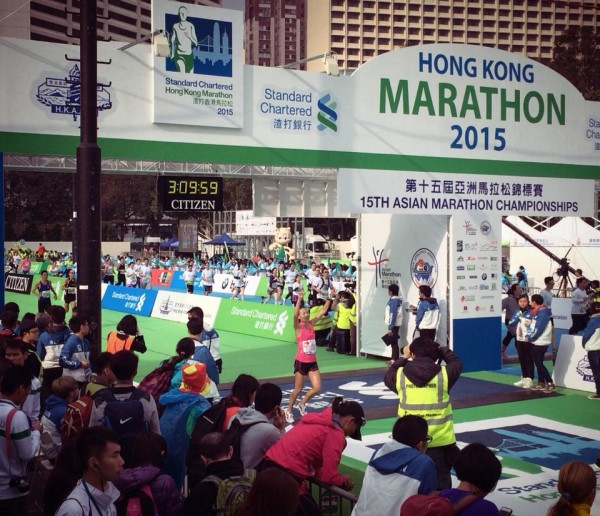 And it's a new personal best for Neo, at the Hong Kong Marathon.
