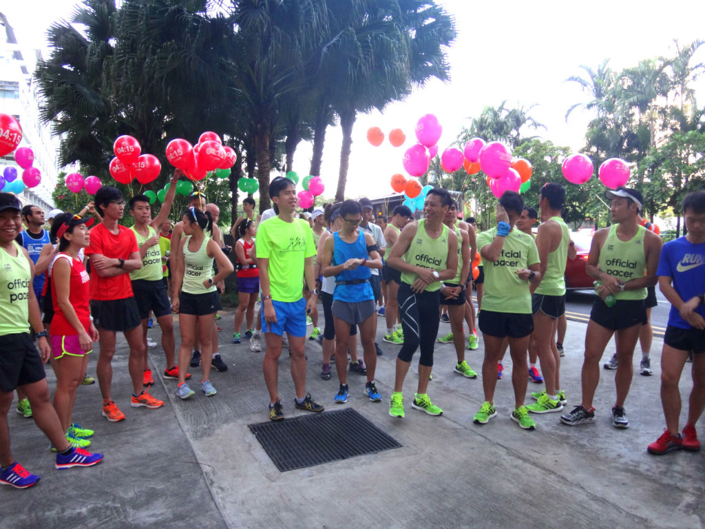 Runners gearing up for the training run.
