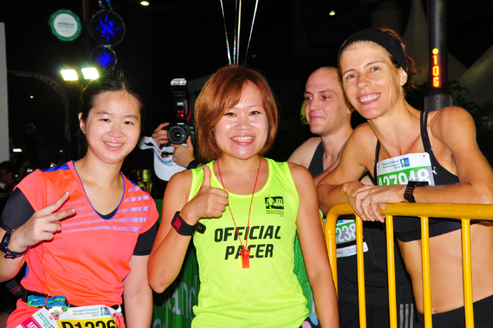 With elite Japanese runner and SCMS pacer, Sakiko.
