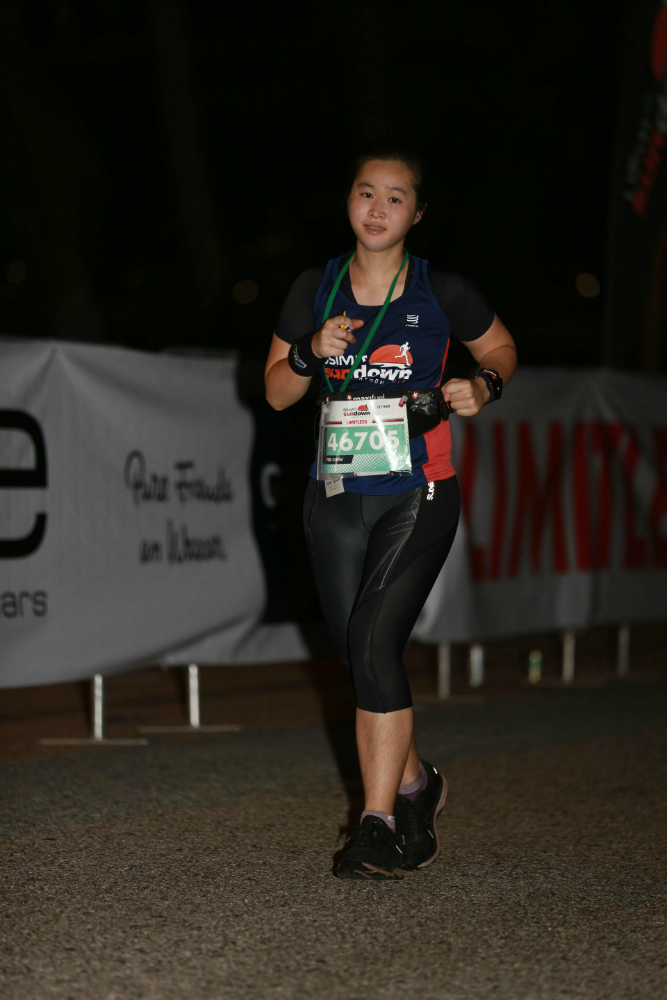 I ran in the Sundown Marathon last weekend.