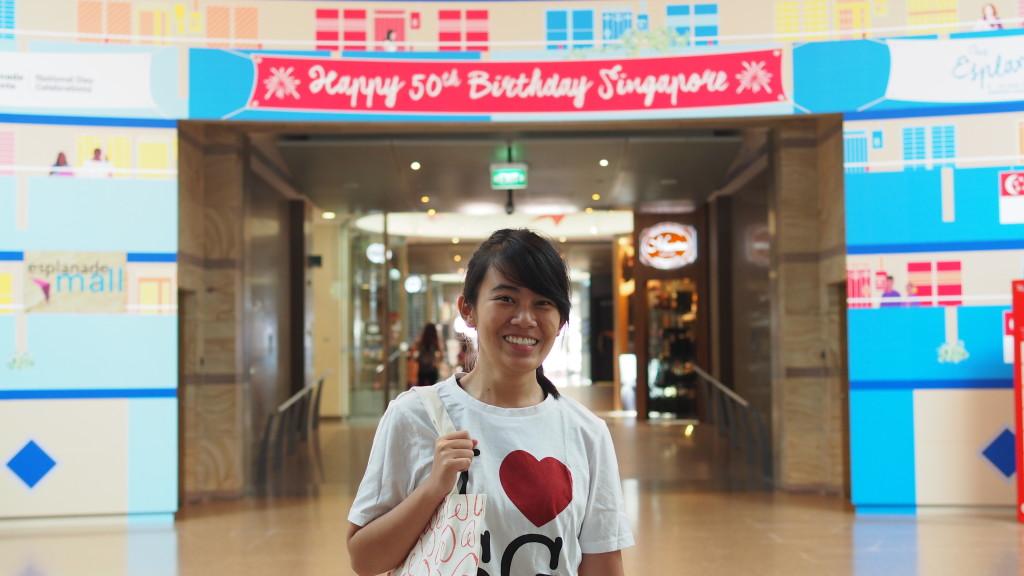 Tay Zhi Wen, SG50's biggest fan at the Esplanade.