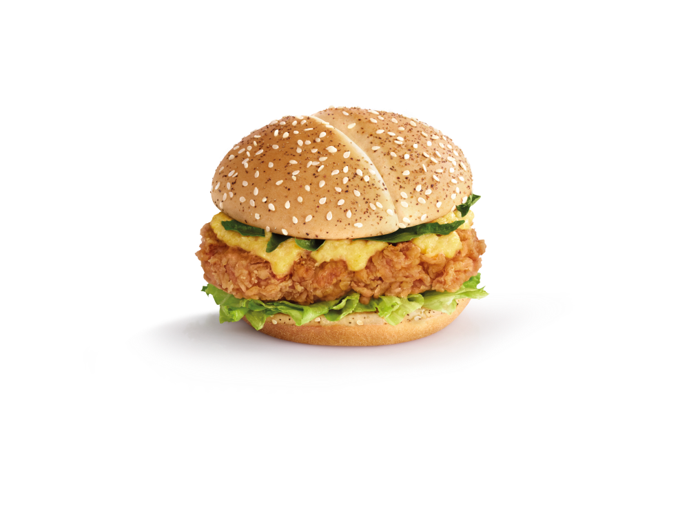 Salted Egg Yolk Chicken Burger is the star of the new offerings.