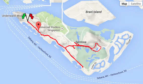 Our race route for Puma Night Run 2014.