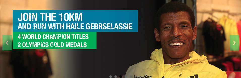 The 10KM race, with Haile Gebrselassie, is sold out. (Image: marathonsingapore.com)