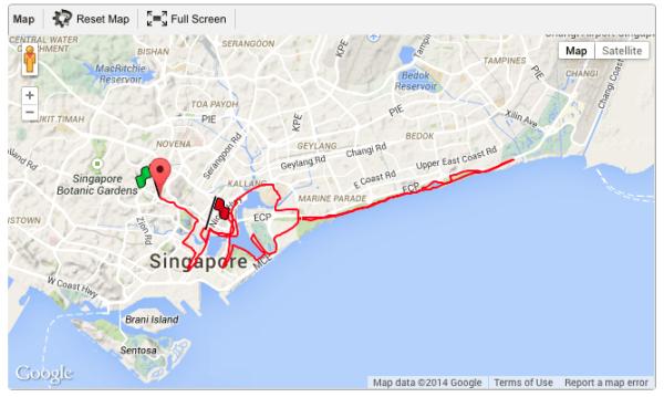 SCMS Full Marathon Route 2014.