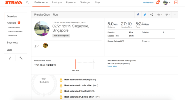 The data can easily be synced to Strava.