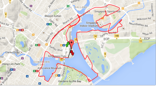 21.1km route for RUN350.