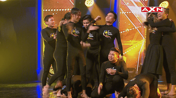 Winning Asia's Got Talent is a very emotional moment for El Gamma. Credit: AXN Asia.