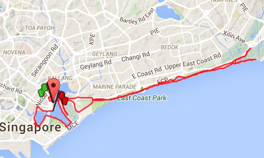 42.195km Full Marathon route.
