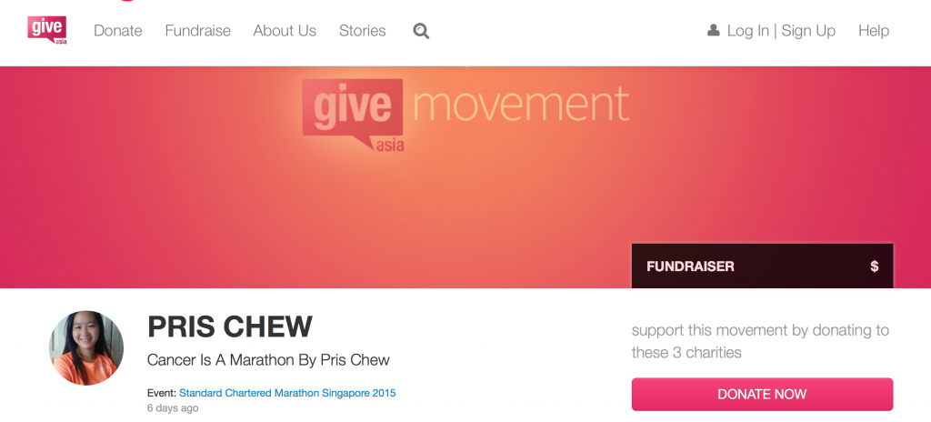 Do make a small contribution to my movement on GiveAsia.