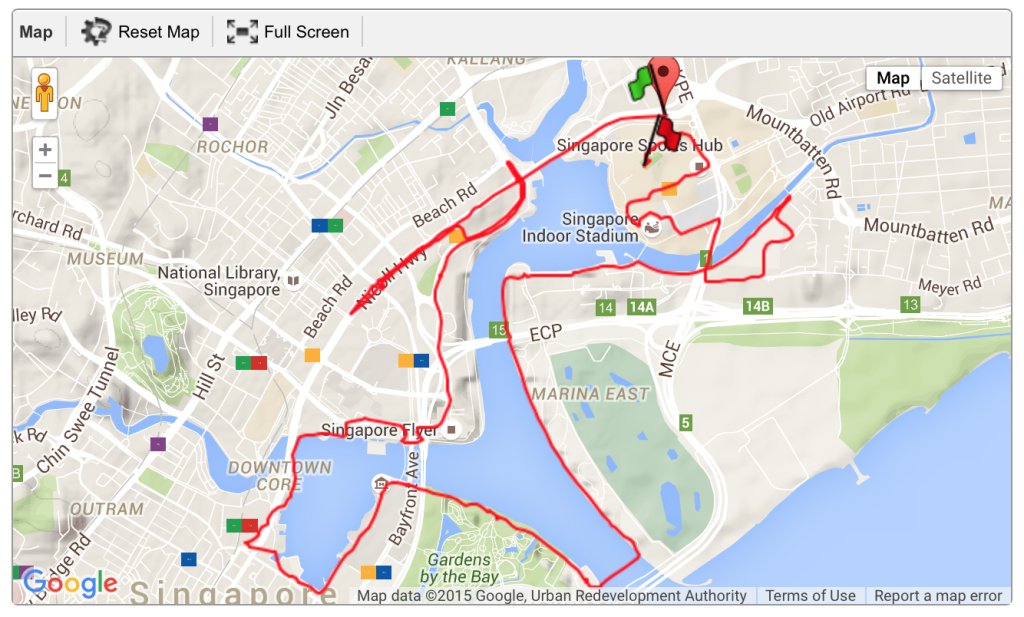 The scenic ST Run race route.