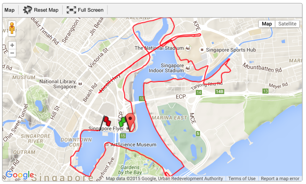 The 21.1km race route for GEWR 2015.