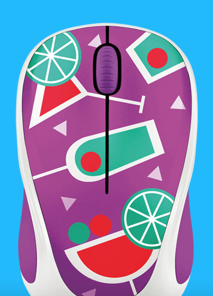 A close up look of the Cocktail themed mouse.