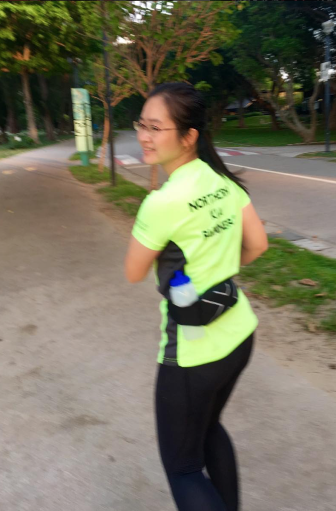 I ran with the Simple Hydration bottle tucked into my waist belt.