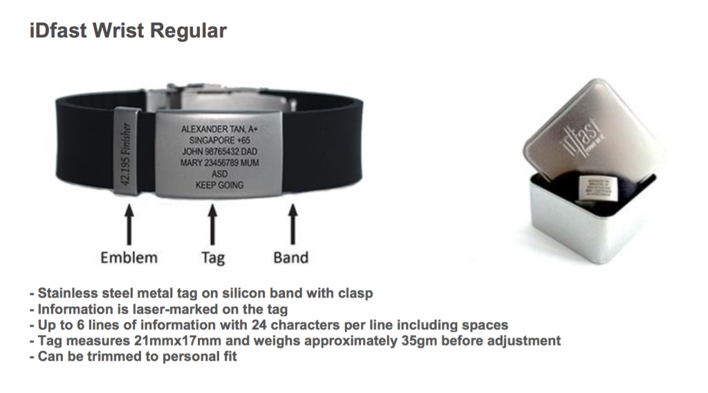 Regular iDfast Wrist tag.