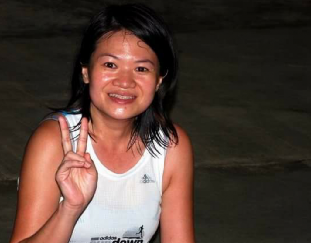 Jessica Too is a cancer survivor who will be taking part in this year's RAC. This is her after a Sundown Marathon race in 2008, before her cancer.