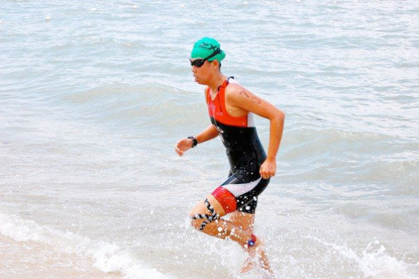At the Singapore Triathlon 2014. (Photo from Sara Ng.)