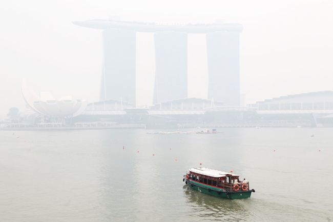 The haze is back in full force.
