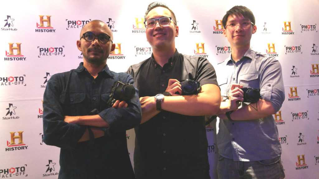 Mohd Yusof, Shaun Tan and Cheng Kok Hou - Singapore's representatives at Photo Face Off S2.