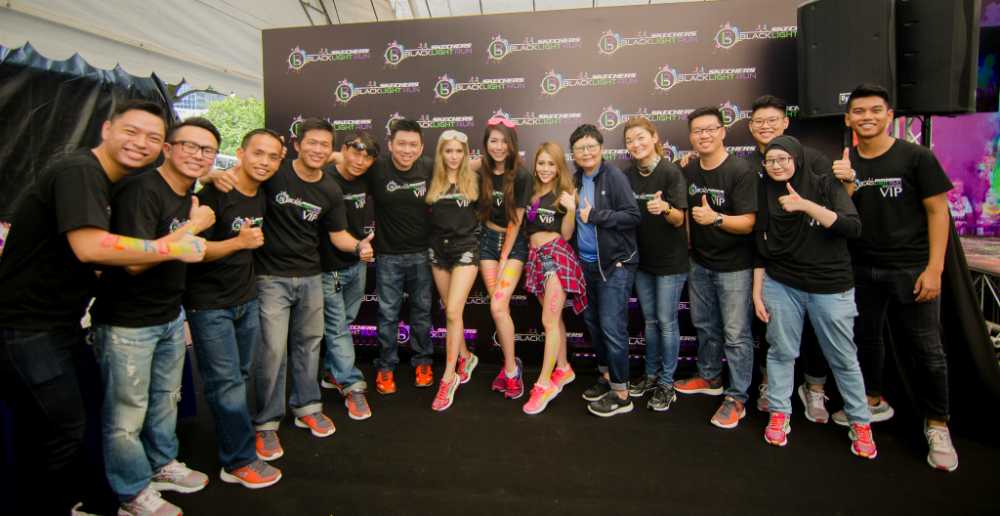 The organising team for the Skechers Blacklight Run Singapore.