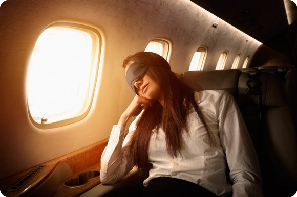 How many of you having trouble sleeping on planes?