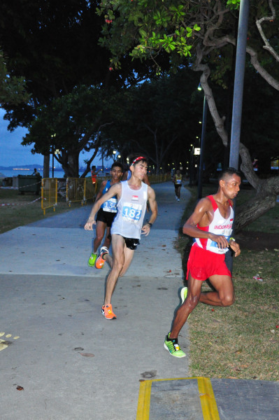 Soh was part of the leading pack during the marathon.