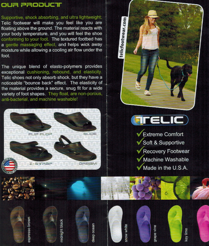 More about Telic Sandals from the official brochure.