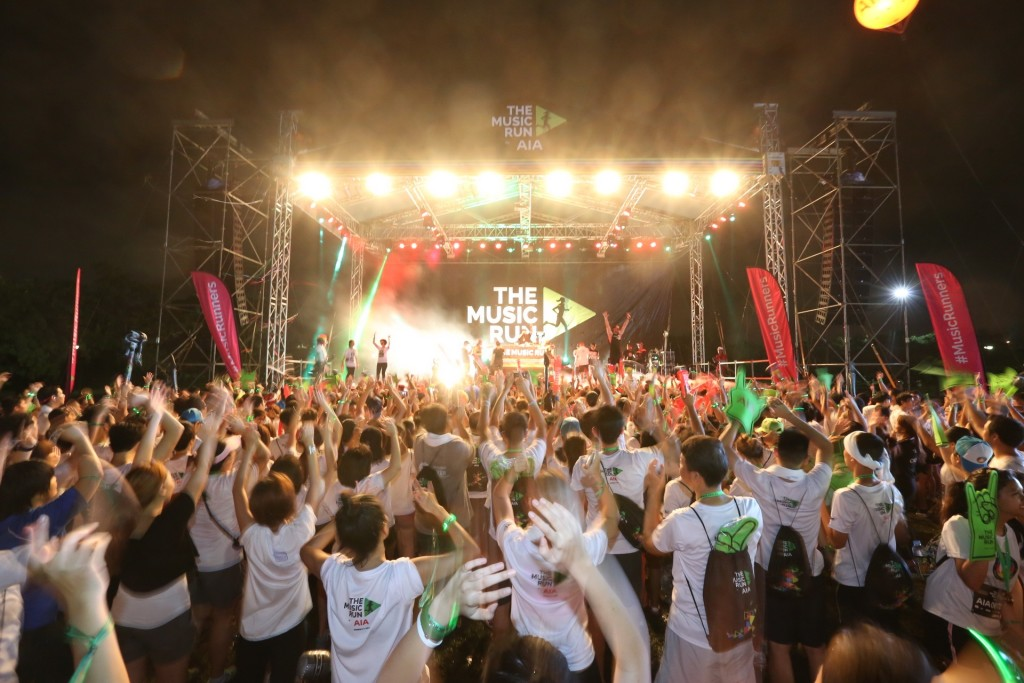The Ultimate Music Festival awaits the runners after their Music Run. [Photo by weekender.com.sg]