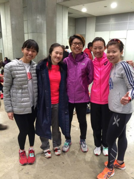 Neo and a group of her running friends - at the Tokyo Marathon 2015.