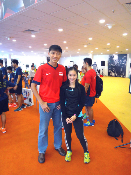 With football legend Lim Tong Hai.