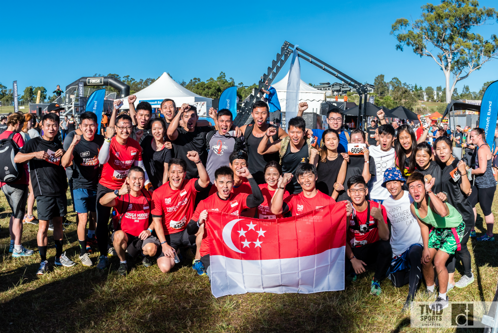 Singaporeans at Tough Mudder.