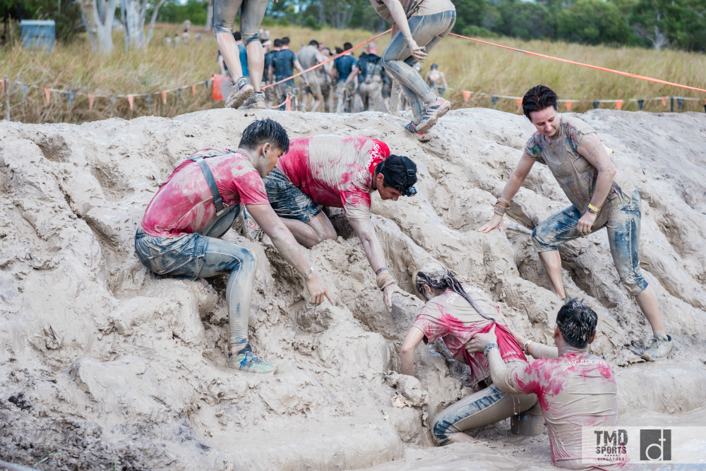 Camaraderie is important in Tough Mudder races.