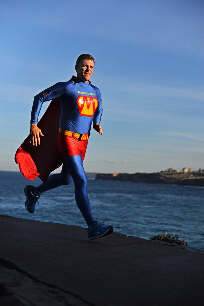 Trent Morrow trains hard for his next marathon. (Image Credit: Chris Peken - Alternative Media Group)
