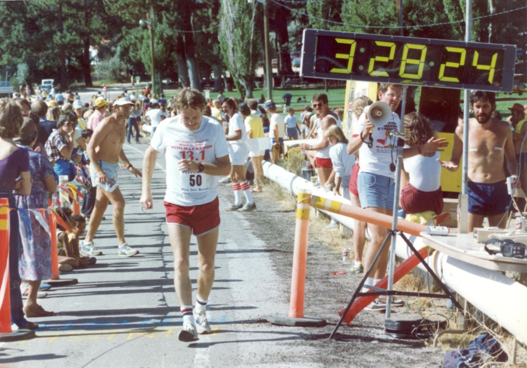 Maddog completes his first-ever marathon, the Silver State Marathon in Florida, 1989. Photo credit: Maddog