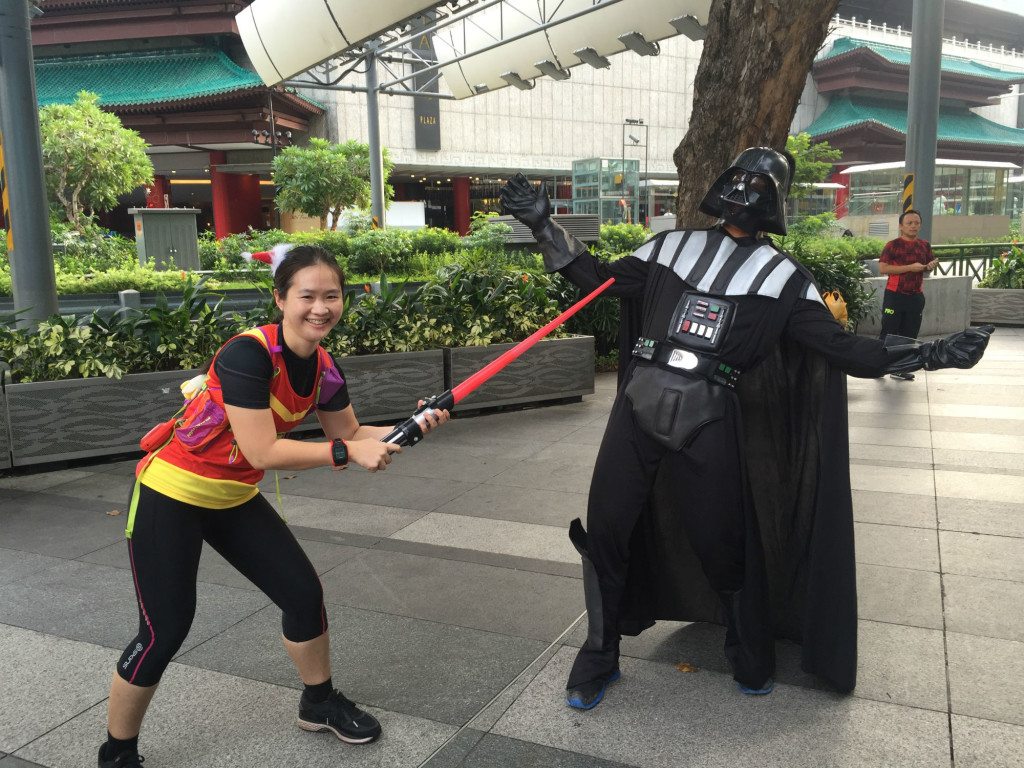 Darth Vader has no answer to my fierce lightsaber skills.