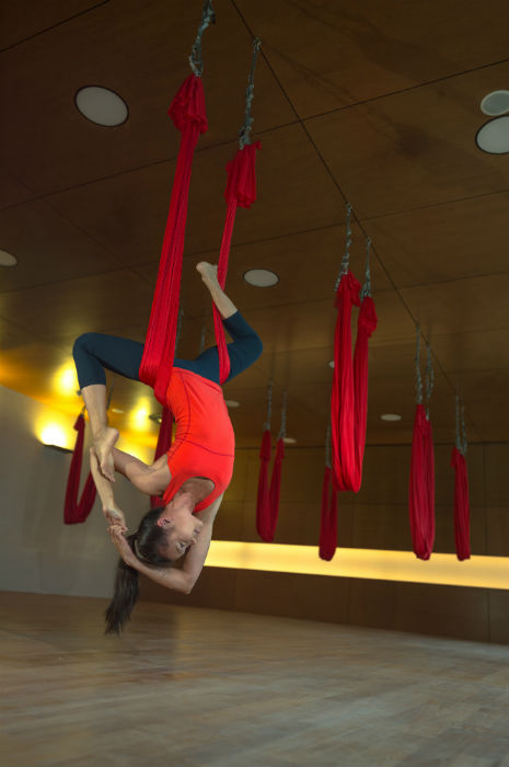 Anti Gravity Yoga can be done at Virgin Active gym. (Photo Credit: Virgin Active).