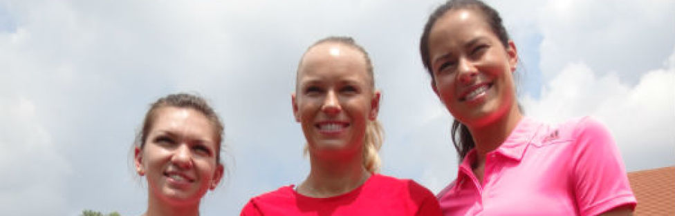 WTA Finals 2014: Students Get Chance to Play With Ana Ivanovic and Simona Halep