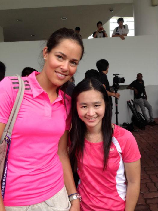 With tennis star Ana Ivanovic.