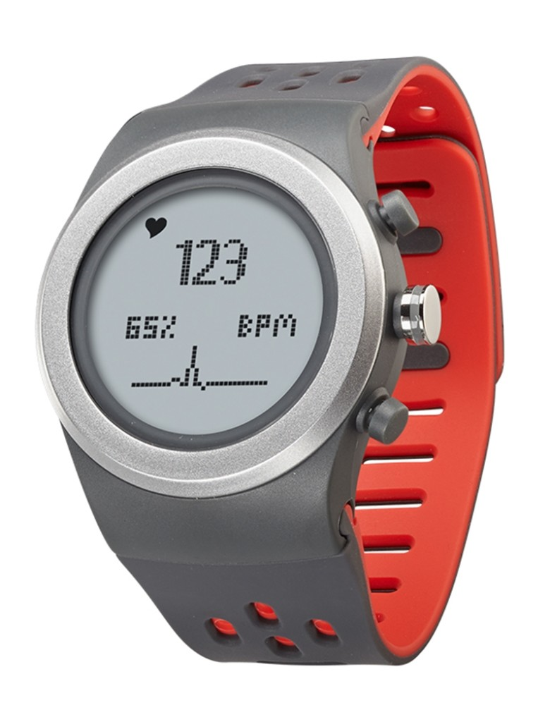 The tracker can measure heart rate via a chest strap as well as through the watch itself. [Photo by LifeTrak USA]