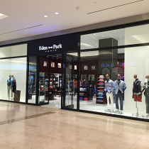 Eden Park stores are recognisable by the pink bow tie.