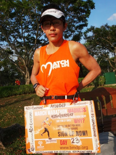 This month, Gerrard Lin (Ah Siao) is on a quest to run one marathon every day - for 31 days.