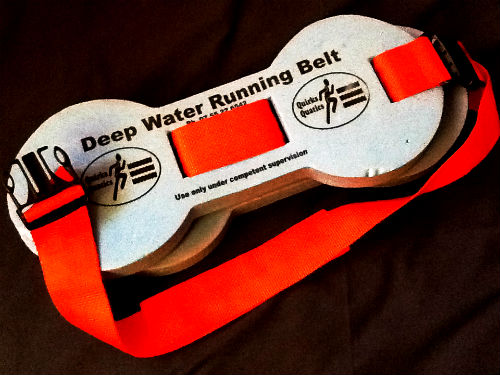 A floatation belt that can be used for aqua running.