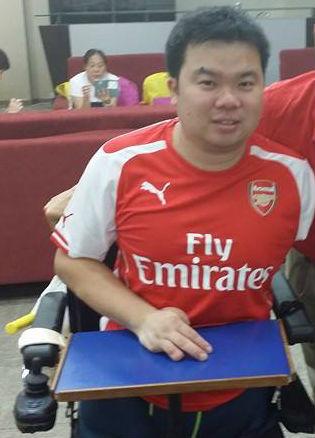 Avid Arsenal fan, Jason Chee.