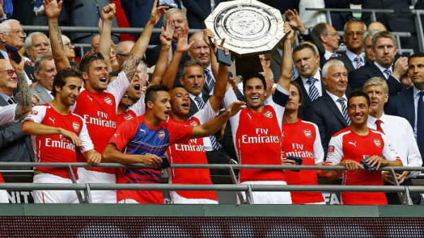 Arsenal's Community Shield win is their second piece of silverware within 3 months. (Image: EuroSport UK)