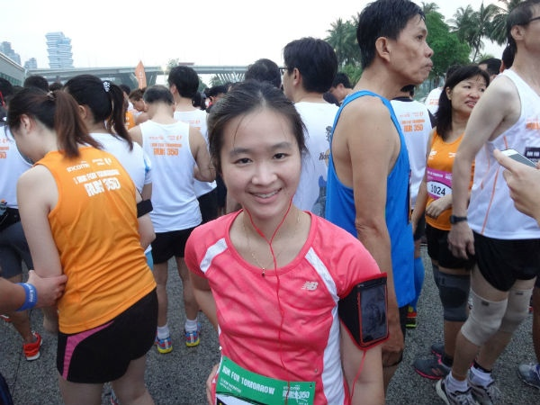 At the starting line fot Run 350 (10km).
