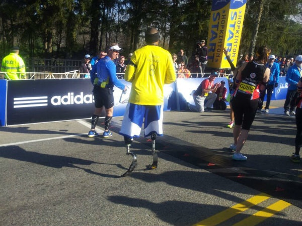 A small handful of the athletes at the Boston Marathon 2014.