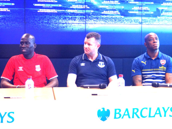 From left to right. Mamady Sidibe, Graham Stuart and Ian Wright.