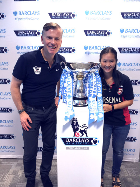 With John Dykes and the Barclays Asia Trophy.