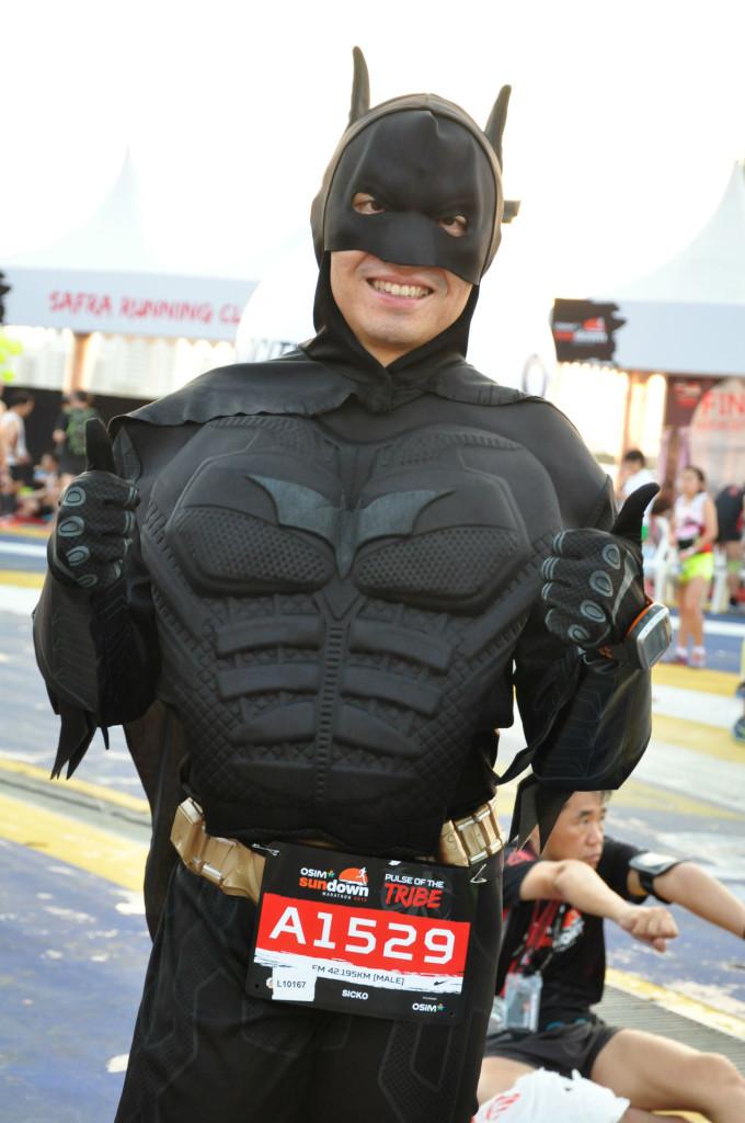 Running marathons is part of Batman's training.